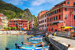 Vernazza village, beautiful place in Cinque Terre, Italy. Stock Photos