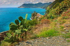 Vernazza village on the Cinque Terre coast of Italy,Europe Stock Photo