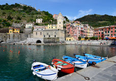Vernazza village in the Cinque Terre, Italy Royalty Free Stock Photography