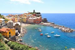 Vernazza village Stock Images