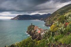 Vernazza village in Cinque Terre, Italy Stock Photo