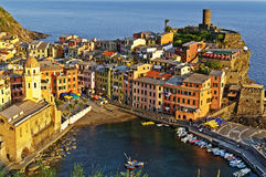 Vernazza - village at Cinque Terre, Italy Royalty Free Stock Images