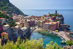 Vernazza village - Cinque Terre - Italy Royalty Free Stock Photography
