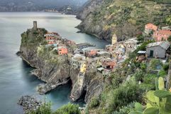 Vernazza village, Italy. Cinque Terre, Vernazza fishing village, Italy Stock Photo