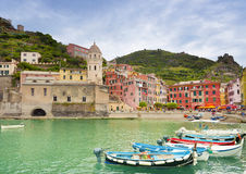 Vernazza village in  Italy. Stock Image