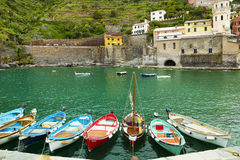 Vernazza village in  Italy. Stock Photography