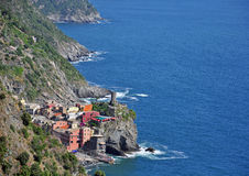 Vernazza village seascape Stock Photo