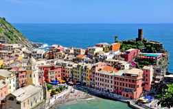 Vernazza village, top view Royalty Free Stock Photos