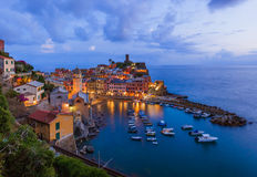 Vernazza w Cinque Terre, Włochy - Obraz Stock