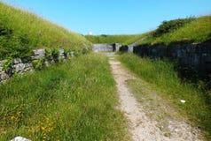 Verne citadel gun emplacements Dorset Stock Images