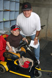 Verne Troyer & Pete Rosa immagine stock