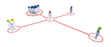 vernetzung Stockbild