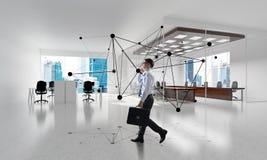 Vernetzung und Sozialkommunikationskonzept als effektiver Punkt für modernes Geschäft Stockfotografie