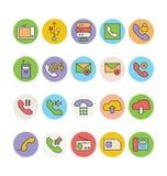 Vernetzungs-und Kommunikations-Vektor-Ikonen 4 Stockbilder