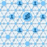 Vernetzungskonzeptfoto der Tafel-/Tafelkreidezeichnung der Leute oder der Geschäftsverbindungen Stockfoto