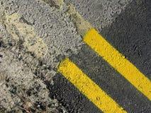 Vernice astratta gialla della strada Immagine Stock Libera da Diritti