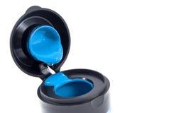 Vernice blu di colore Fotografie Stock