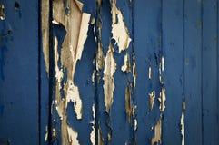 Vernice blu a fiocchi Immagini Stock