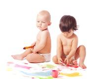 Vernice del whith dei bambini Fotografie Stock Libere da Diritti