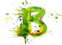 Vernice dell'acquerello - lettera B royalty illustrazione gratis
