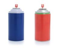 Vernice di spruzzo rossa e blu Fotografia Stock