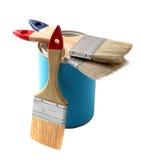 Vernice e spazzola fotografie stock libere da diritti