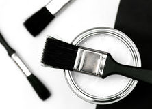 Vernice e spazzole Fotografie Stock