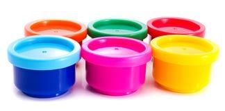 Vernice Multi-colored di gouache Fotografia Stock Libera da Diritti