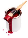 Vernice rossa Fotografie Stock Libere da Diritti