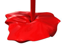 Vernice rossa Fotografie Stock