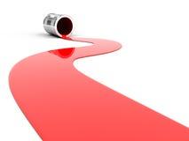 Vernice rossa rovesciata Fotografie Stock Libere da Diritti