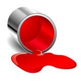 Vernice rovesciata rossa Fotografia Stock Libera da Diritti