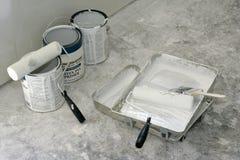 Vernice, rulli e vaschette Fotografia Stock Libera da Diritti