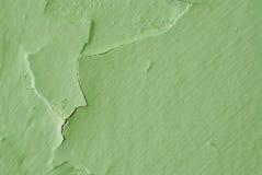 Vernice verde della sbucciatura Fotografie Stock Libere da Diritti
