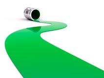 Vernice verde rovesciata Immagini Stock