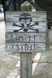 Vernichtungslager-Zeichen Lizenzfreies Stockbild