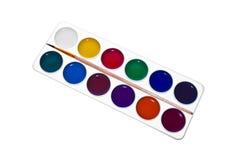 Vernici dei Water-colors Fotografia Stock