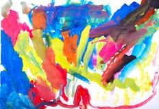 Vernici di colore di acqua dell'illustrazione dei bambini Immagine Stock Libera da Diritti