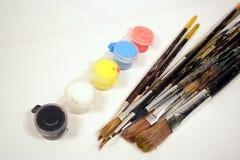 Vernici e spazzole Fotografie Stock