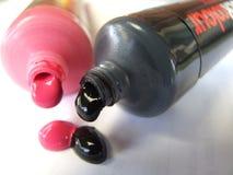 Vernici i tubi Fotografia Stock