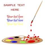 Vernici la gamma di colori. Fotografie Stock