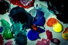 Vernici la gamma di colori Fotografia Stock