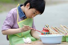 verniciatura cinese dei bambini Fotografia Stock Libera da Diritti