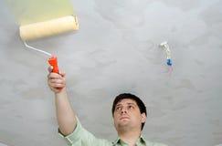 Verniciatura del soffitto Immagine Stock Libera da Diritti