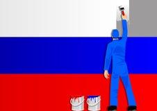 Verniciatura della bandierina della Russia illustrazione di stock