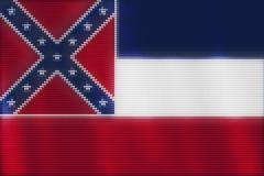 Verniciatura delle mattonelle del cuore del mosaico della bandiera del Mississippi illustrazione di stock