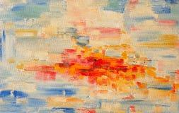 Verniciatura di colori di olio Fotografia Stock