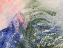 Verniciatura di colori di olio Immagine Stock