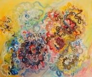 Verniciatura di colori di olio Fotografie Stock Libere da Diritti