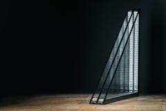 verniciatura tripla, base di legno, fondo nero, posto per testo Immagini Stock Libere da Diritti